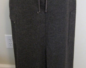 Gray Wool Skirt - Long Lined Petite Size 4 Grey Wool Skirt - Eddie Bauer Fully Lined Size 4 Winter Skirt - Size Small Career Business Skirt