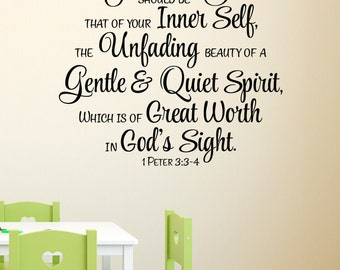 Scripture Wall Decal Etsy - Bible verse wall decals