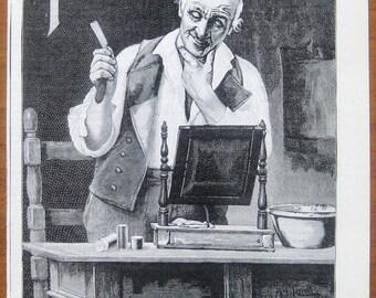 Pears, 1899, vintage, ad, original, shaving stick, shaving, English, advertisement, free shipping, paper, ephemera