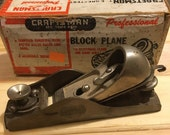 Vintage Craftsman Block Plane With Box 1950s Woodworking Tool