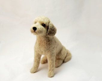 Labradoodle, Needle Felted Dog, Custom Made Dog Portrait, Labrador, Poodle, Labradoodle or any other breed - made to order - MEDIUM SIZE