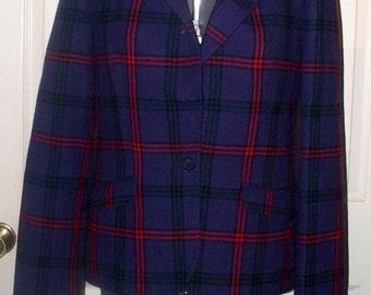 1980s PENDLETON Jacket - Size 7-8 - 100% Wool - Fully Lined - Blazer - Suit Jacket