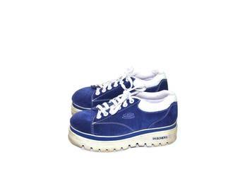 Platform Sneakers Skechers Sneakers Chunky Heel Sneakers 90s Shoes Sapphire Tennis Shoes