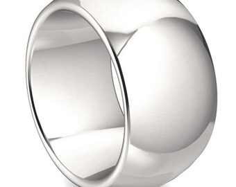 massive, simple ring (925 sterling silver) width 14 mm