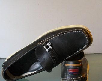 Ferragamo Moccasin Style Boat Shoes Size 11D