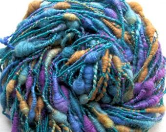 Art Yarn Coils Handspun Merino/Tussah Silk