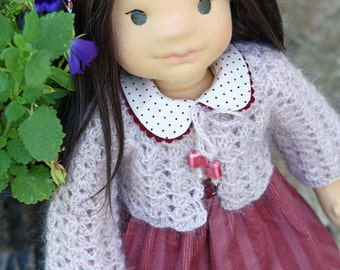 "Waldorf doll ready to be sent - Waldorf doll 17"" inches, ""Patricia""   - A gift for birthday, Christmas"