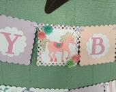 Unicorn Birthday banner unicorn party decor