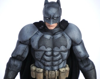 Batman: The Telltale Series Batman Marvel Legends Style 6 inch custom action figure with Bruce Wayne extra head sculpt and wired cape