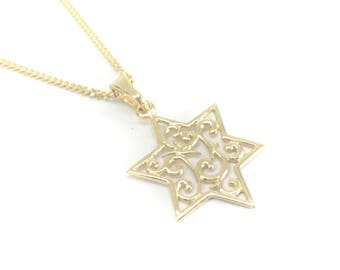 Star Of David Necklace, Meaningful necklace, Religious jewelry, Judaica jewelry, Made in Israel jewelry, Bat mitzvah gift, Bar mitzvah gift