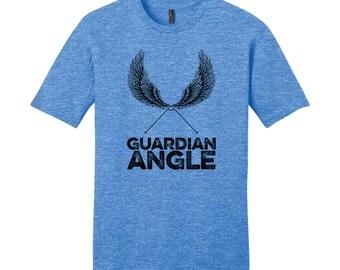 Graphic Tee Guardian Angle Hipster Shirt Funny English Teacher Gift Ideas Math Shirt Teacher Men's Funny Shirt Graphic Shirt Wings Shirt
