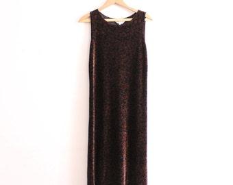 Velvet Botanical 90s Maxi Dress