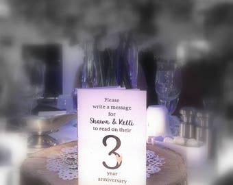 Table Numbers * Wedding Table Books * Anniversary Books