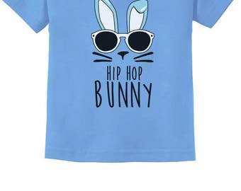 Hip Hop Bunny Easter Toddler Short Sleeve T-Shirt