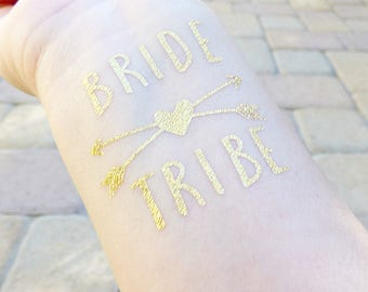 Bride Tribe Tattoo, Bachelorette Party Tattoo, Bridesmaid Gift, Hen Party Tattoo, Engagement Party Tattoo, Bridesmaid Tattoos, Gifts For Her
