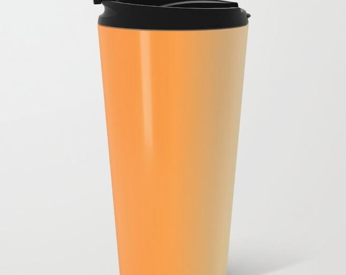 Orange Ombre Travel Mug Metal - Coffee Travel Mug - Orange to Yellow -  Hot or Cold Travel Mug - 15oz Mug - Stainless Steel - Made to Order