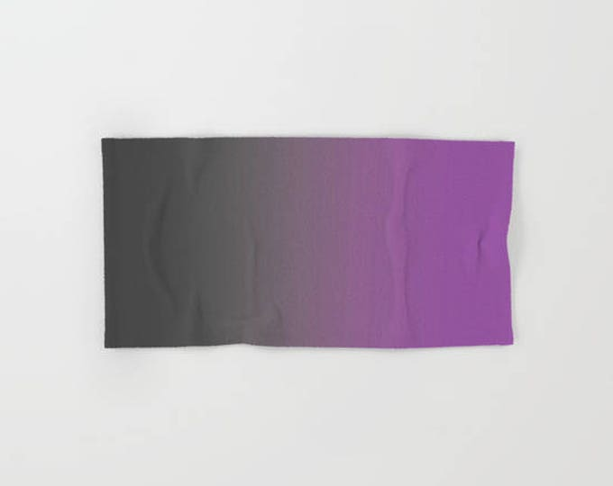 Hand Towels - Gray to Purple - Kitchen Towel - Bathroom Hand Towel - Microfiber - Cotton Terry Cloth - Made to Order