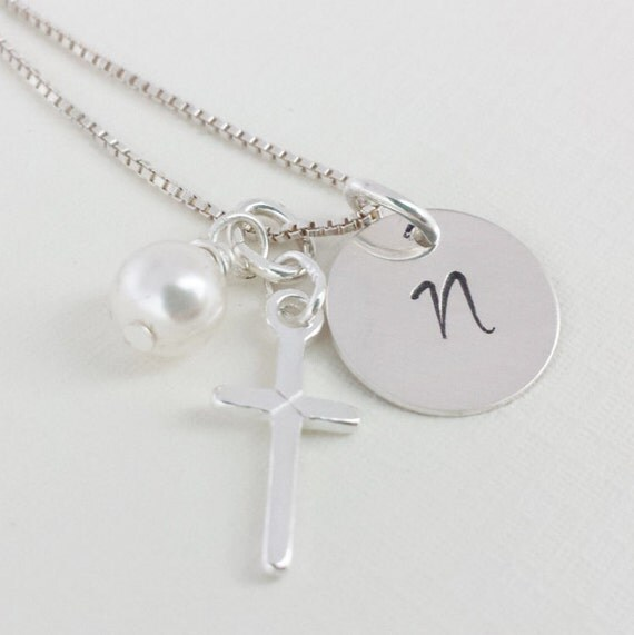 First Communion Jewelry / First Communion Necklace / Religious Jewelry / Cross Necklace / First Communion Gift / Religious Gift / Faith