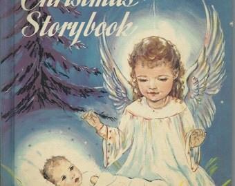 1957-Father BRENNAN van Kerstmis STORYBOOK - grote verhalen omvatten: Angel met zilveren vleugels zilver spinnenwebben, de schoenmaker, de kleinste Gift