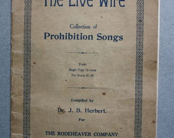Antique Collection of Prohibition Songs