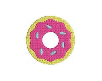 Donut Doughnut Sprinkles Mini Fill Design File for Embroidery Machine Monogram  Instant Download Dessert