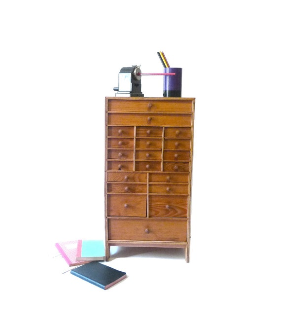 Wooden furniture wood cabinet drawer desk organizer 21 drawers - Desk organizer drawers ...