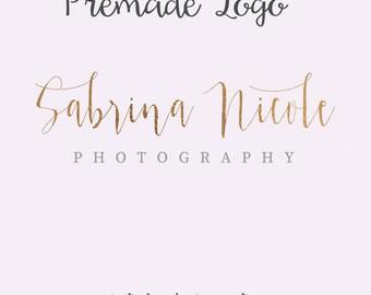 Gold Foil Elegant Logo, Signature Logo, Photography Logo, Classy Logo, Watermark Logo, Premade Typography Logo, Blog Logo, Gold Foil Logo