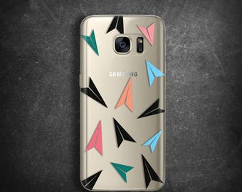 Case for Samsung Galaxy S7 Case for Galaxy S8 Plus Case for Samsung Galaxy S7 edge Case for Samsung J3 J5 J7 Clear case paper planes