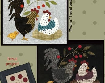 Primitive Wool Applique Pattern - Here a Chick There a Chick - Part Four - Six Part Series - Choose Pattern Only or Pattern with Wool Kit