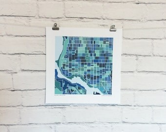 Ballard Seattle Map Print