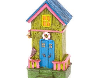 Fairy Garden Beach House - Beach Fairy Garden House Miniature Beach Hut Mini Surf Shack