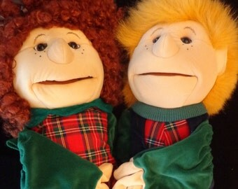 Folkmanis Folktails Full Body Boy and Girl Curlylocks Girl Puppet Toy Doll 2 hands Ventriloquist dummy
