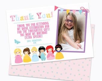 Calling All Princesses Thank You Card/Princess Thank You/Little Girl Princess Birthday Party/Toddler/Baby/Girl Princess
