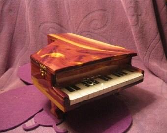 CEDAR PIANO JEWELRY Box---Orange