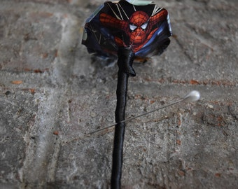 Spiderman Comic Boutonniere