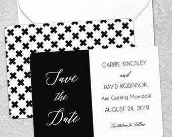 Roxxy - Card - Save the Date - Includes Back Side Printing + Envelope