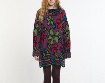 Angora Knit Long Loose Sweater_VIOLET
