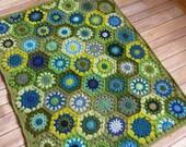 Baby Boy Crochet Blanket - READY TO SHIP - Green and Blue Hexagon Baby Blanket - Handmade Baby Blanket - Baby Shower Gift - Baby Boy Gift