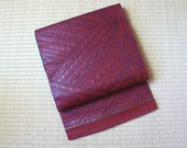 Red leather look fukuro o...
