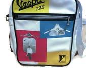 Vintage Vespa Bag / Shoulder Bag / Laptop bag / Crossbody bag / Retro bag / scooter bag / messanger bag / school bag