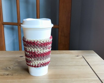 Crochet Coffee Sleeve - Reusable Coffee Sleeve - Tea Lover Gifts - Gifts for Teen Girls - Teacher Gift - Tea Cozy - Crochet Coffee Cup Cozy