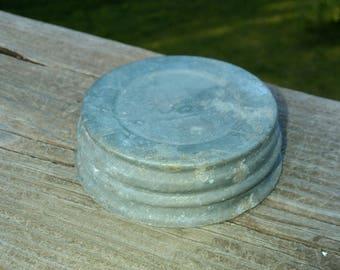 Zinc Lids, Six Vintage Zinc Canning Jar Lids, Canning Lids, Zinc Jar Lids, Antique Lids, Glass insert, Mason Jar Zinc Lids, Ball Jar Lid
