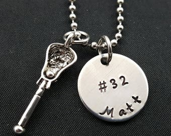 Lacrosse Necklace - Boys Lacrosse - Girls Lacrosse - Lacrosse Mom necklace - Sports team - Lacrosse Team - Gift for lacrosse player
