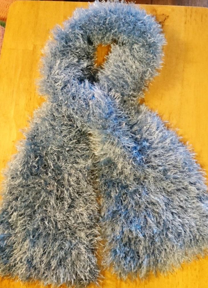 Scarf Fluffy Knit Knit Wear Winter Warmer Accessory