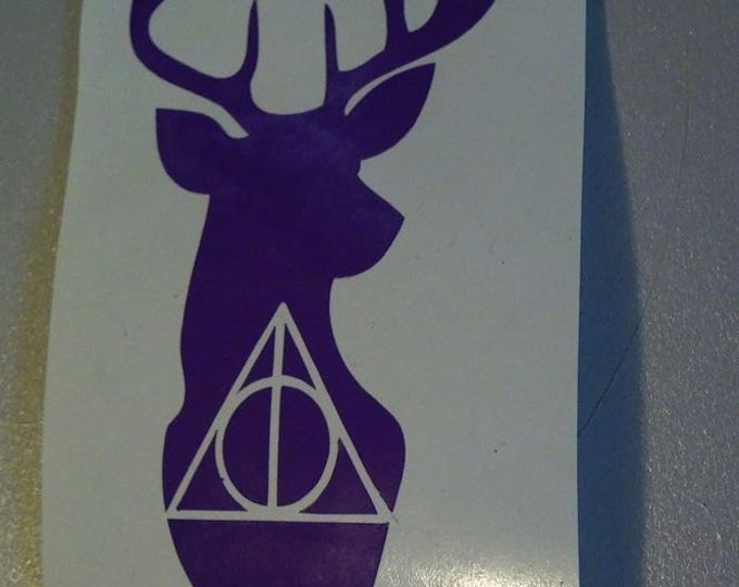 Deathly Hallows Stag Vinyl Decal