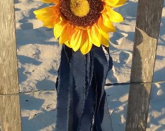 Sunflower Chair sunflower pew bows | etsy