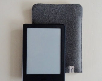 "Kindle Sleeve for Kindle E-Reader 6"" Mid-Grey wool"
