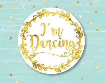 Personalized Coasters, Wedding Coaster, Custom Coaster, I'm Dancing, Drink Coaster, Bar Coaster, Wedding Favors, Corporate Coaster