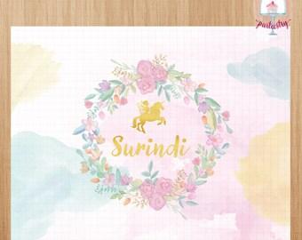 Fairy Unicorn Backdrop Banner - Printable Backdrop banner