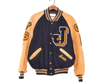Vintage Letterman Jacket - 80s Letterman Jacket - Varsity Athletic Wool Coat - Military Letterman Jacket